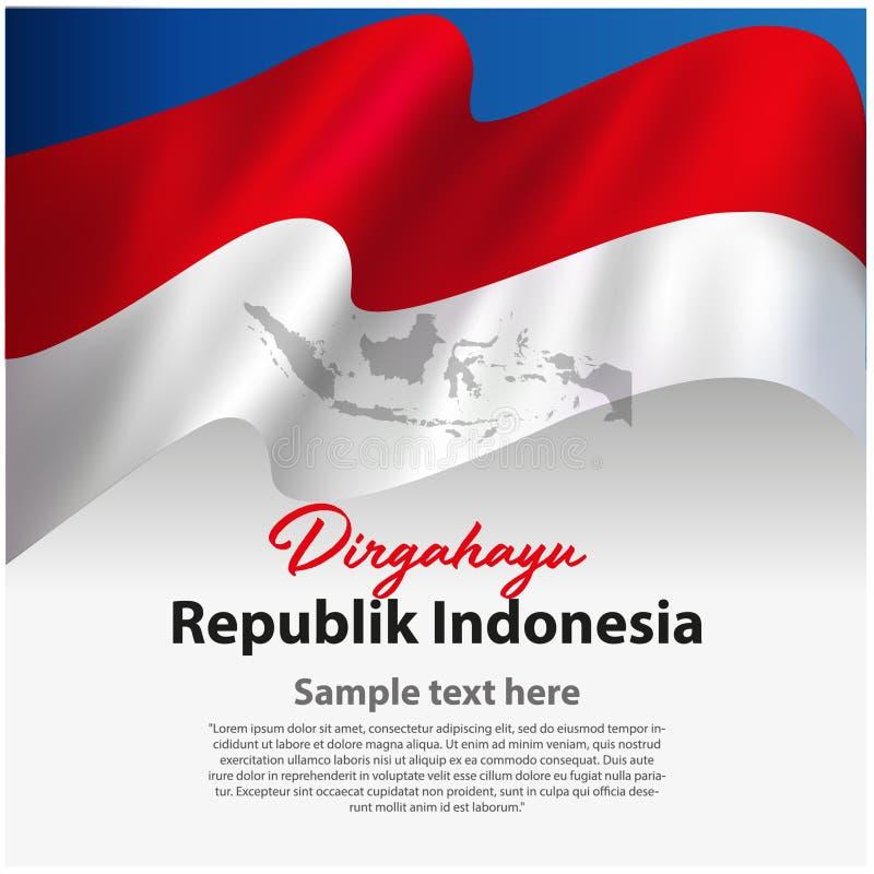 Indonesien oberoende dagbaner royaltyfri illustrationer