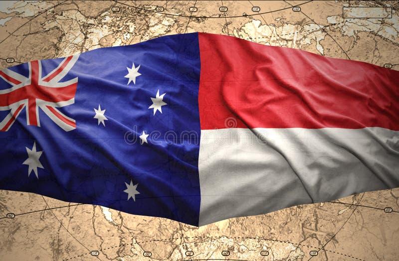 Indonesien och Australien vektor illustrationer