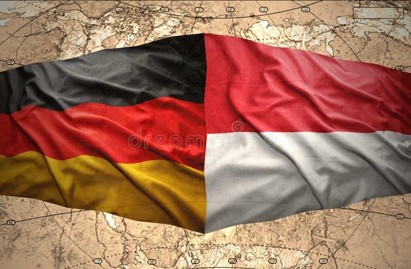 Indonesien och Tyskland stock illustrationer