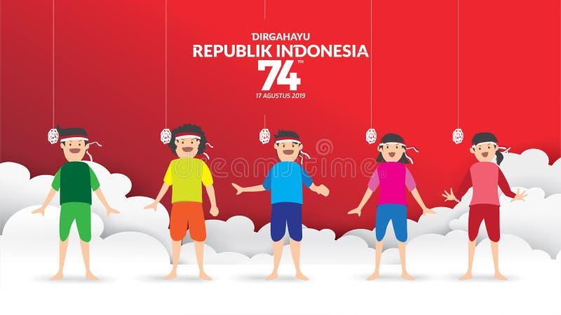 INDONESIEN-UNABH?NGIGKEITSTAG vektor abbildung