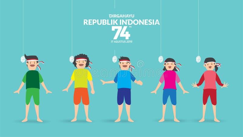 INDONESIEN-UNABH?NGIGKEITSTAG stock abbildung