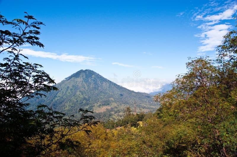 Indonesien-Vulkan stockbild