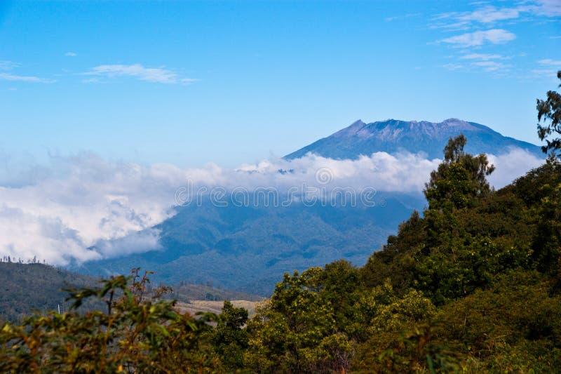 Indonesien-Vulkan lizenzfreies stockbild