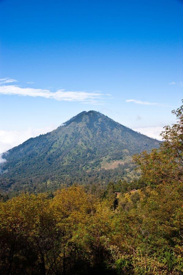 Indonesien-Vulkan lizenzfreie stockfotos