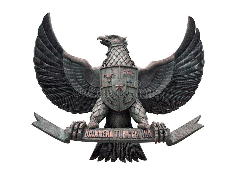 Indonesiens nationales Emblem lizenzfreie stockbilder