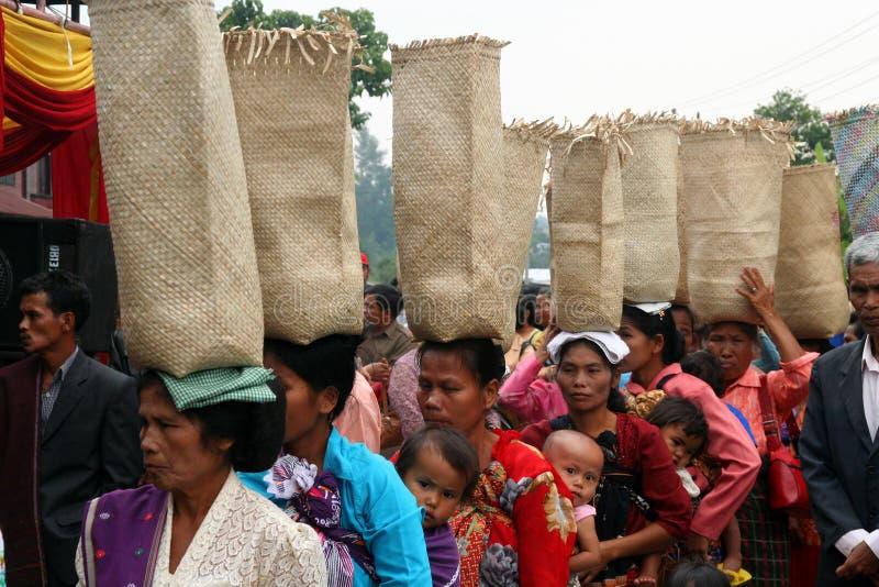 Indonesisch huwelijk stock afbeeldingen