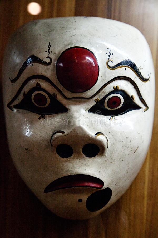 Indonesisch Traditioneel houten masker stock afbeeldingen
