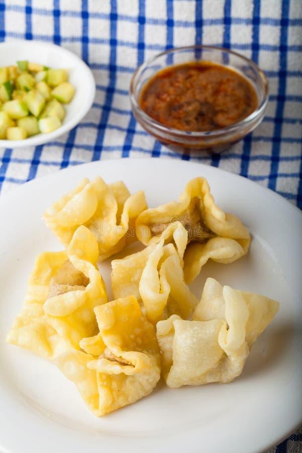 Indonesisch Voedsel Batagor Pangsit royalty-vrije stock fotografie