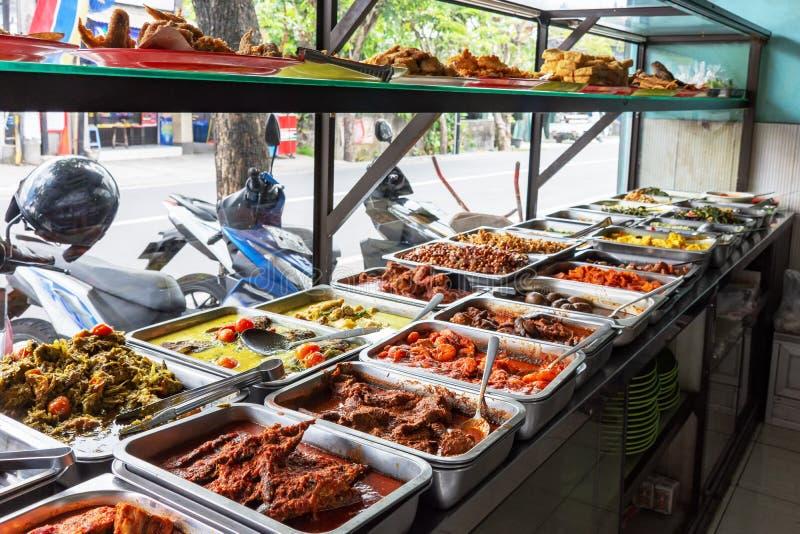 Indonesisch voedselbuffet stock fotografie