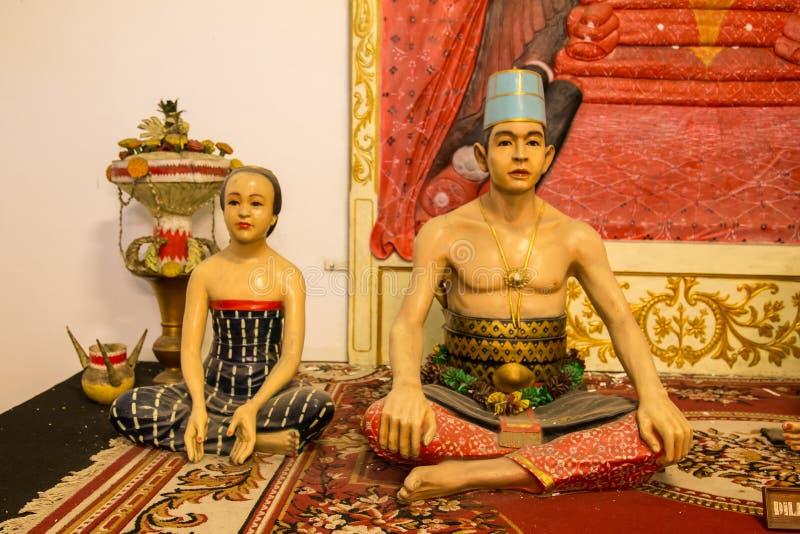 Indonesische beeldhouwwerken van de sultanfamilie royalty-vrije stock afbeeldingen
