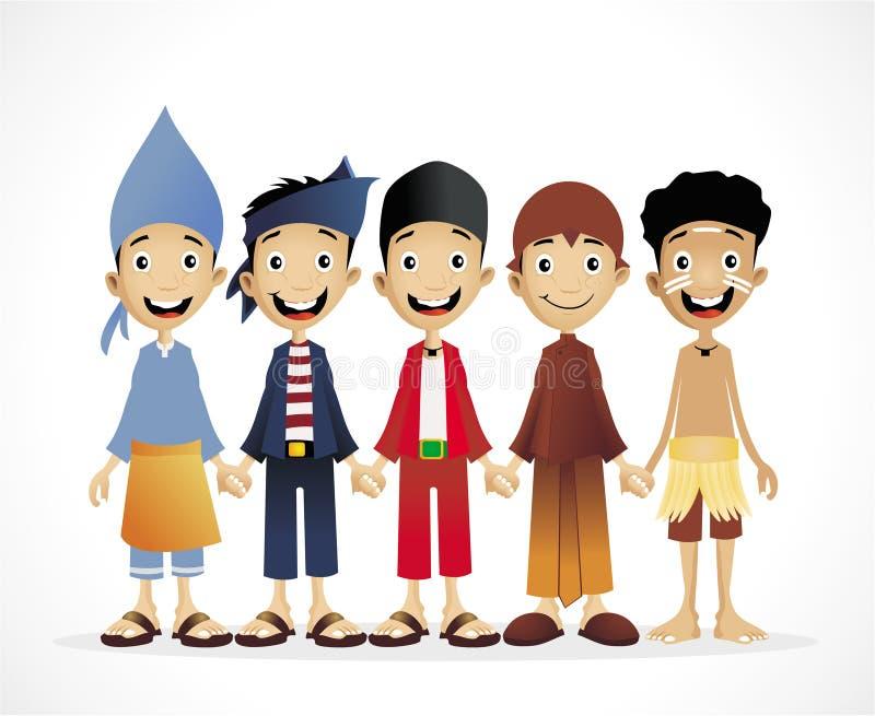 Indonesische ethnische Leute vektor abbildung
