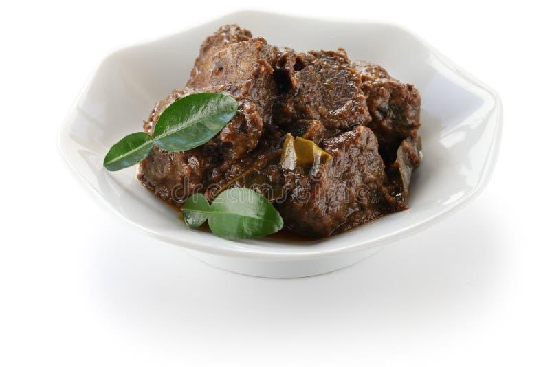Het rundvlees van Rendang stock afbeelding