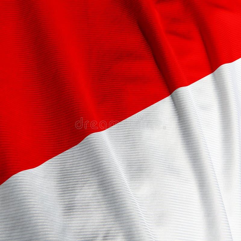 Indonesische Markierungsfahnen-Nahaufnahme lizenzfreies stockfoto