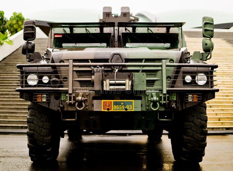 Indonesische militaire gevechtsauto royalty-vrije stock afbeelding