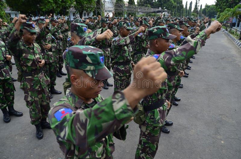 INDONESISCHE MILITAIRE MACHT royalty-vrije stock afbeelding