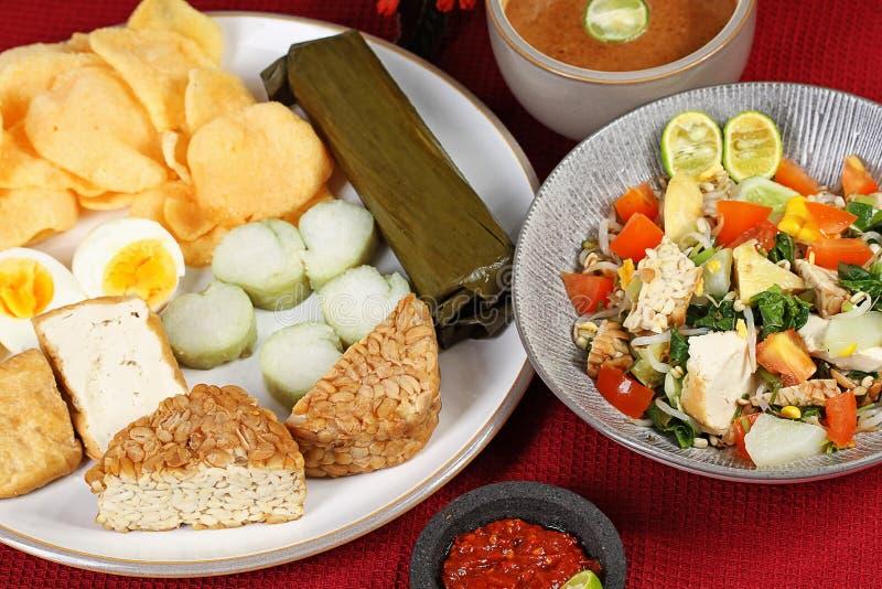 Indonesische salade royalty-vrije stock foto
