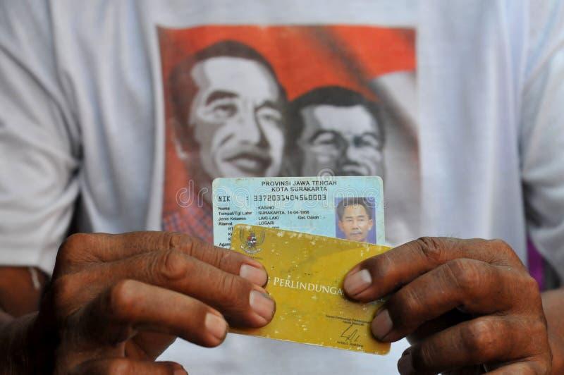 Indonesische Sociale Beschermingskaart royalty-vrije stock foto