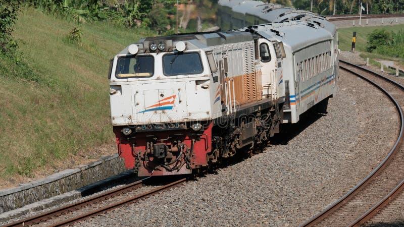 Indonesische Spoorweg stock foto's