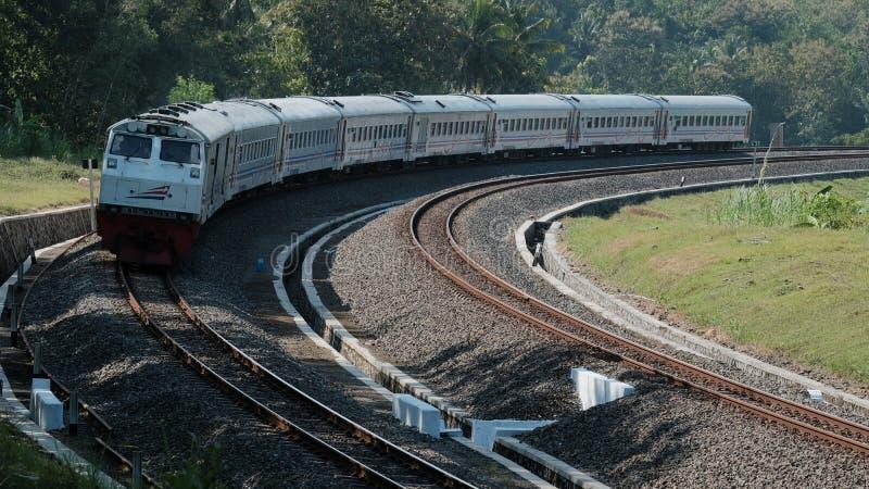 Indonesische Spoorweg royalty-vrije stock foto