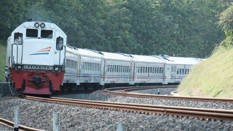 Indonesische Spoorweg stock foto