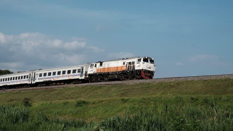Indonesische Spoorweg stock afbeelding