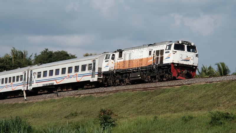 Indonesische Spoorweg royalty-vrije stock afbeelding