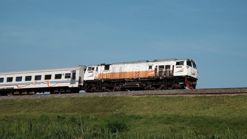 Indonesische Spoorweg royalty-vrije stock afbeeldingen