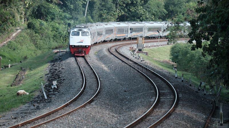 Indonesische Spoorweg stock fotografie