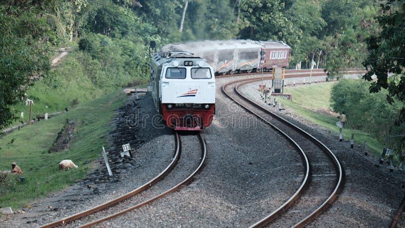 Indonesische Spoorweg stock afbeeldingen