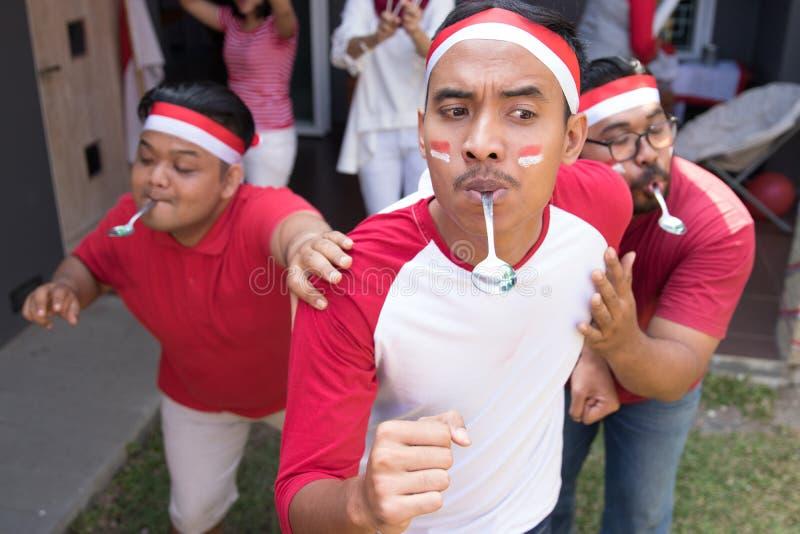 Indonesischer Löffel marmort Rennen lizenzfreies stockfoto