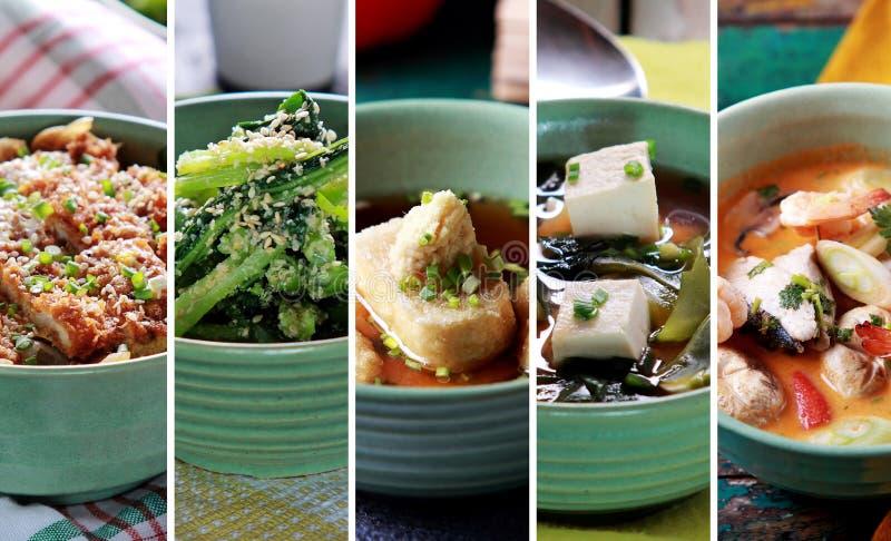 Indonesisk japansk mat för olik fusion, slut upp royaltyfria bilder