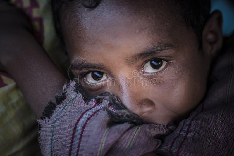Indonesisk pojke royaltyfria foton