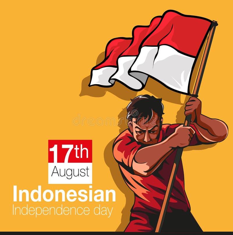 Indonesisk självständighetsdagen vektor illustrationer