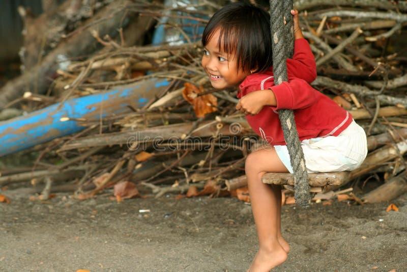 indonesisk swing för flicka arkivbilder