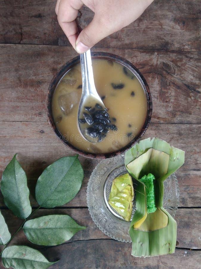indonesisk traditionell dryck kallad dawet arkivbilder