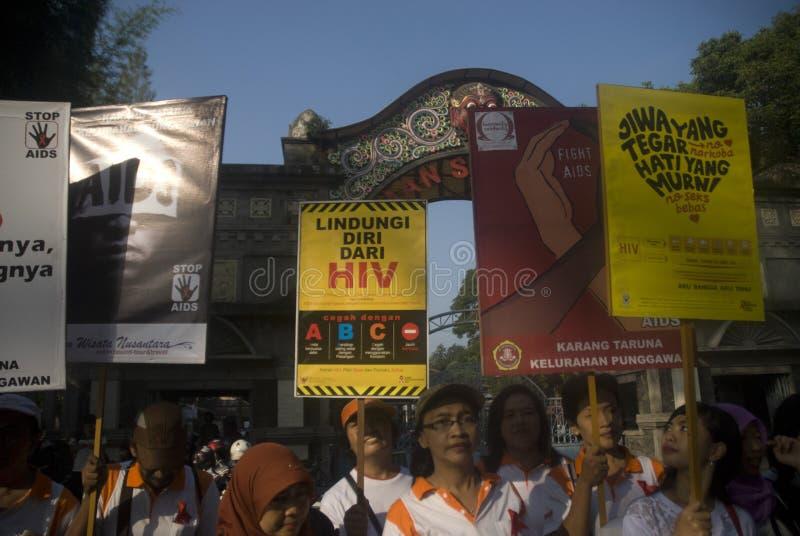 INDONEZJA HIV pomoc ROZPRZESTRZENIAJĄCY trend obraz stock