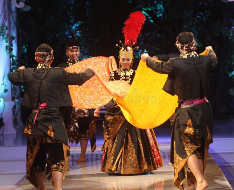Indonezja javanesse Tradycyjny taniec zdjęcie royalty free