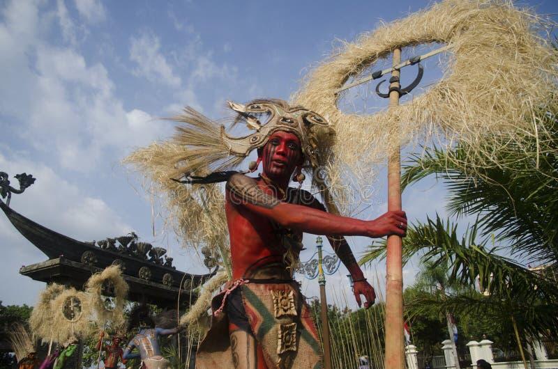 INDONEZJA kultury sztuki festiwal obrazy royalty free