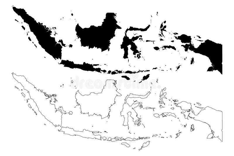 Indonezja mapy wektor ilustracji