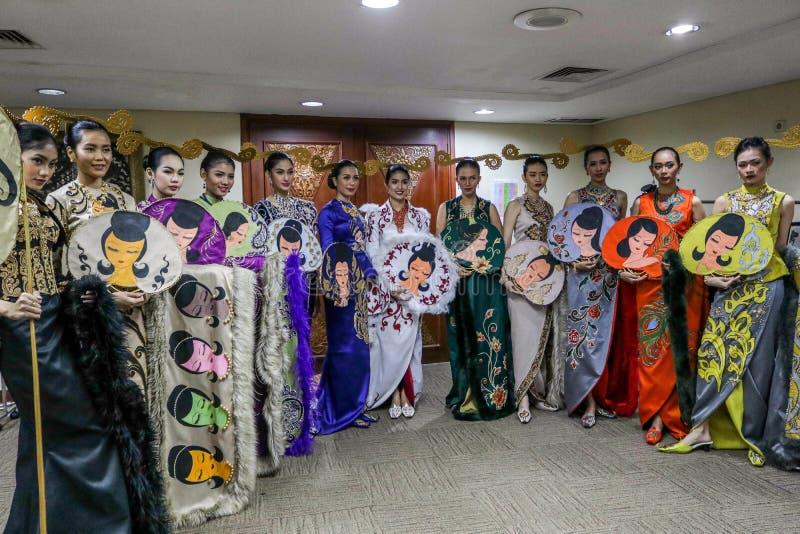 INDONEZJA mody tydzień 2018 dni 1 ` otwarcia przedstawienia ` obraz royalty free