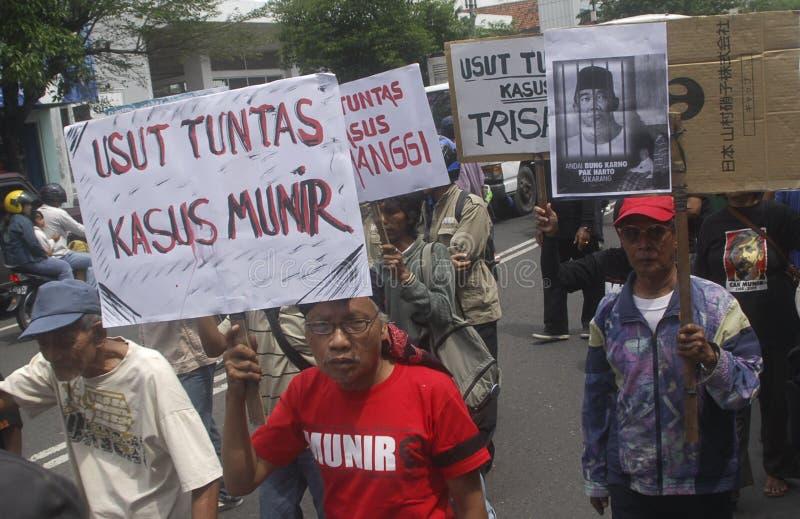 INDONEZJA praw człowieka wyzwanie obraz stock