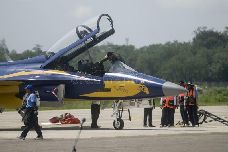 INDONEZJA siły powietrzne myśliwa odrzutowego NOWE propozycje obraz stock
