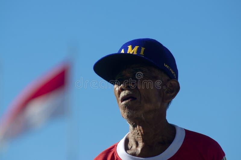 INDONEZJA sporta senior obraz royalty free