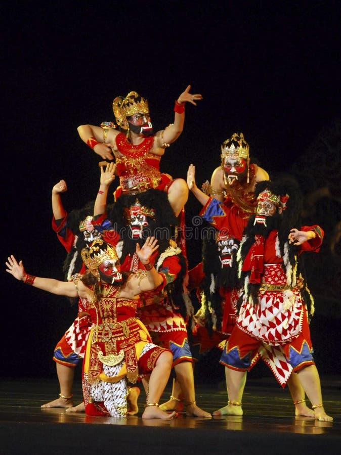 INDONEZJA WAYANG WONG występu tana TEATRALNIE kultura obrazy royalty free