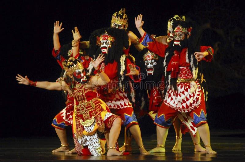 INDONEZJA WAYANG WONG występu tana TEATRALNIE kultura fotografia royalty free