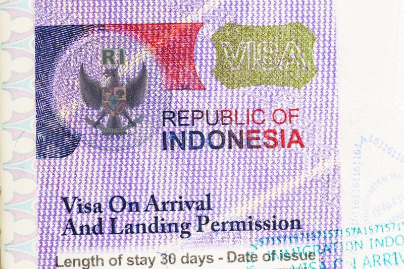 Indonezja wiza zdjęcia stock