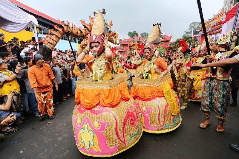Indonezyjczyk Carnaval przy Bogor miastem, Indonezja 22/02/2016 zdjęcie stock