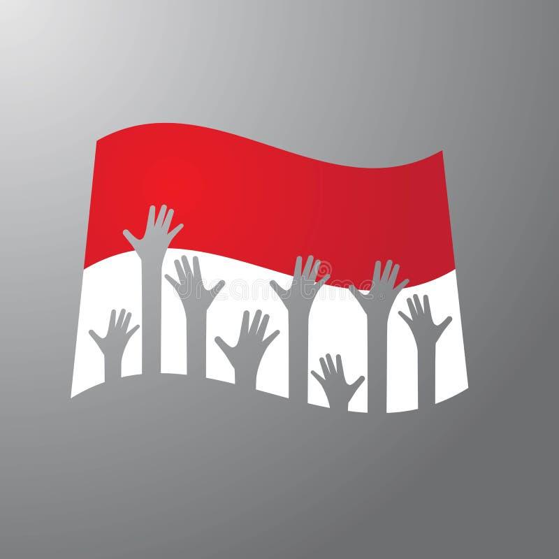 INDONEZYJCZYK flaga royalty ilustracja