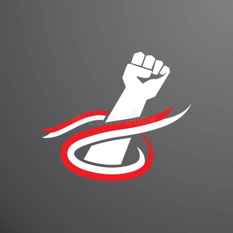 INDONEZYJCZYK flaga ilustracja wektor
