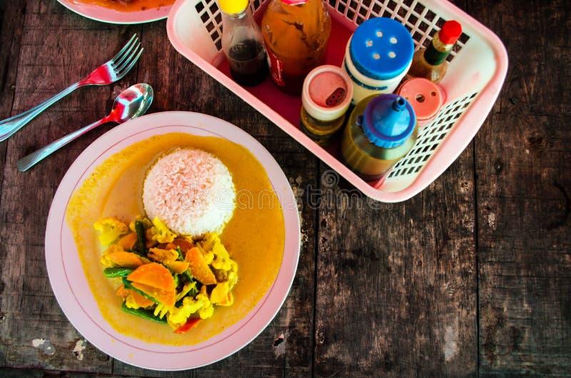 Indonezyjczyka curry'ego stylowy jarski kare zdjęcia royalty free